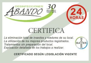 empresa plagas certificado